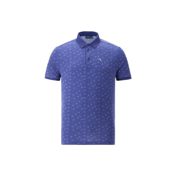 Chervo ASIER Golf Polo Herren gemustert dunkelblau