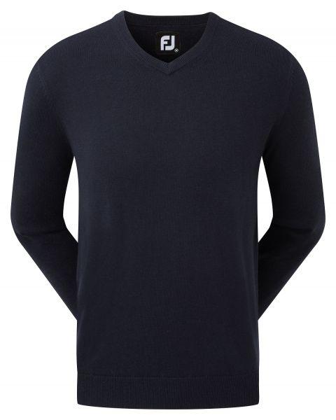 Footjoy Wool Blend V-Neck Pullover Herren navy