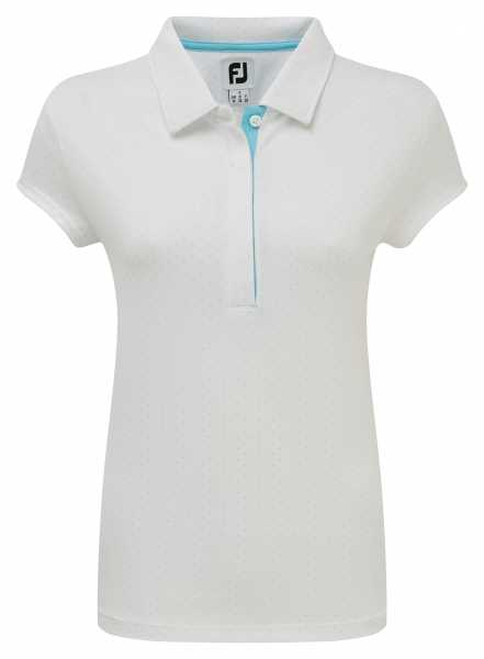 acf0922a1cfe16 Footjoy Smooth Pique with Pin Dot Print Polo Damen weiß jetzt ...