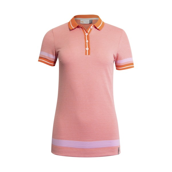 Kjus Emmy Structure S/S Polo Damen pink