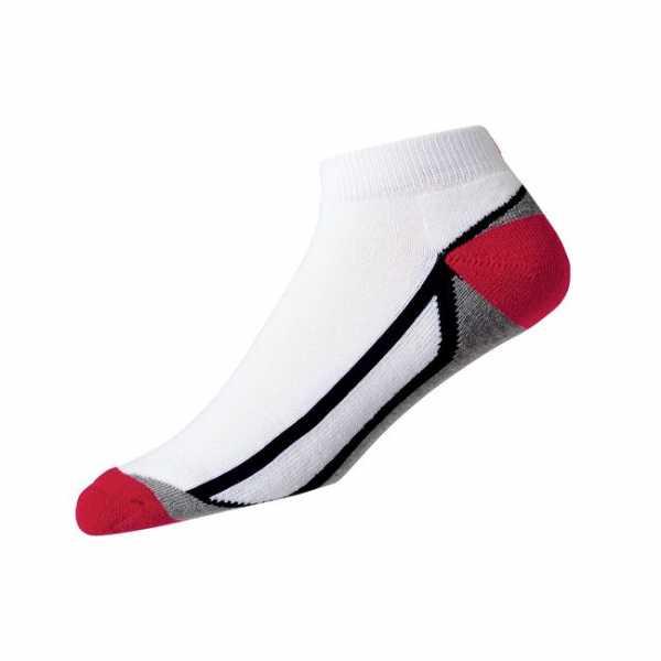 Footjoy ProDry Sport Fashion Socken Herren weiß/grau/rot
