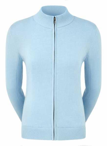 Footjoy Full-Zip Lined Wool Blend Pullover Damen hellblau