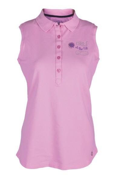 Girls Golf Clubhouse sleeveless Polo Damen rose