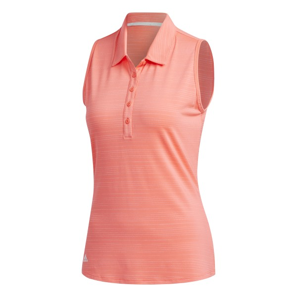 adidas Microdot Sleeveless Polo Damen rot
