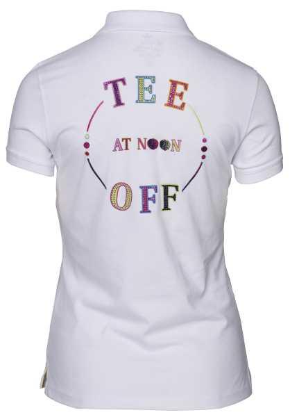 Girls Golf Tee Off Polo Damen weiß