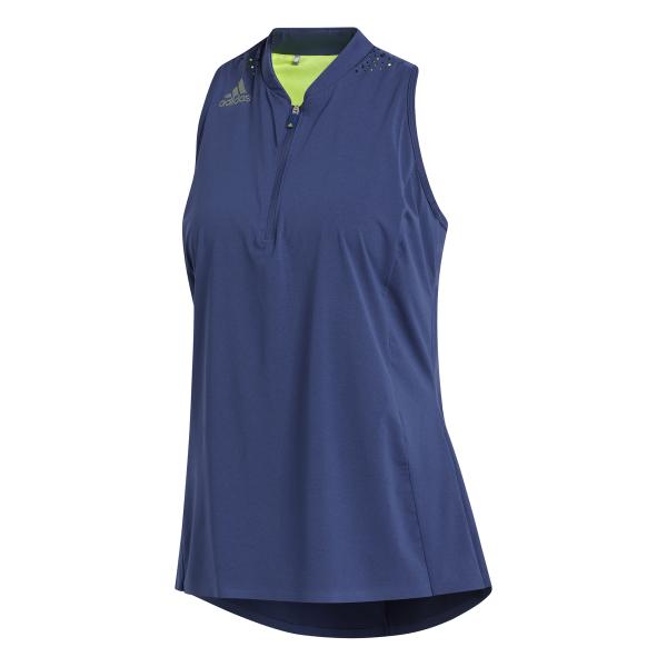adidas Perforated Color Pop Sleeveless Polo Damen blau