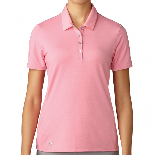 Adidas Essentials Cotton Hand Short Sleeve Polo Damen pink