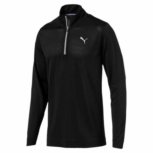 Puma Evoknit Essential 1/4-Zip Pullover Herren schwarz