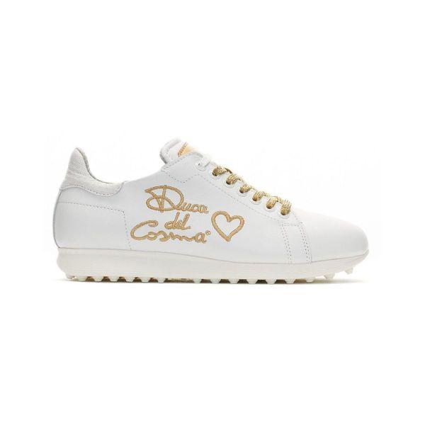 Duca del Cosma Style Golfschuh Damen weiß/gold