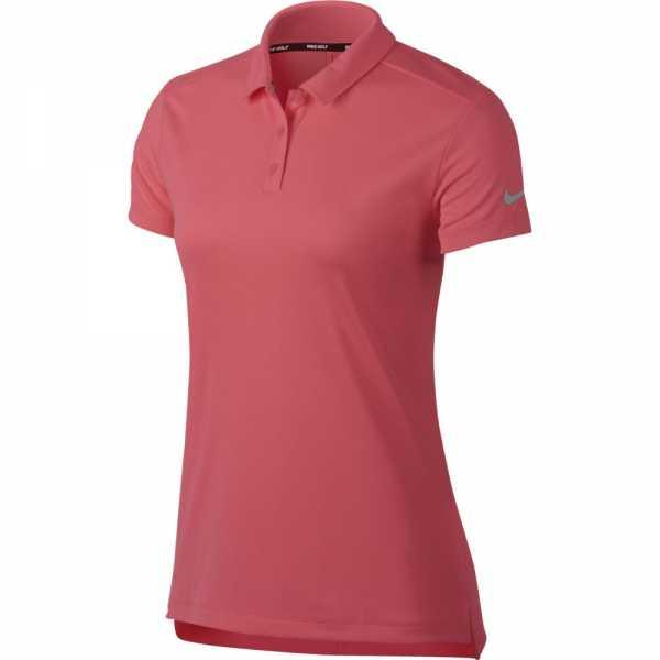 Nike Dry Golf Polo Damen pink/silber