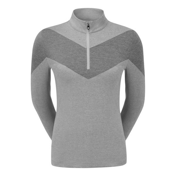 Footjoy Engineered Jersey Half Zip Pullover Damen grau