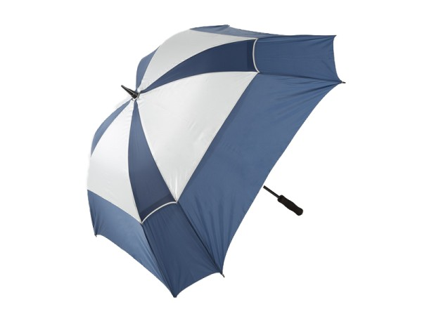 JuCad Windproof Regenschirm blau/silber