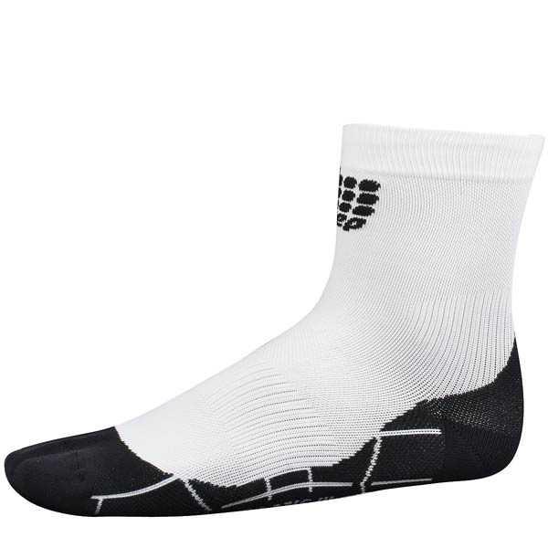 CEPsports dynamic+ Socken kurz Damen schwarz/weiß