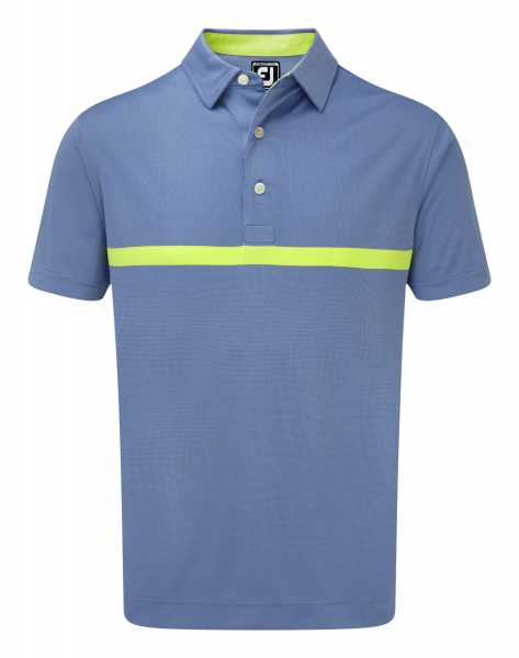 Footjoy Engineered Nailhead Jacquard Polo Herren blau/gelb