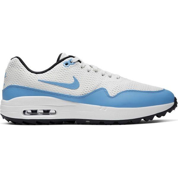 Nike Air Max 1G Textil Golfschuh Herren weiß/blau