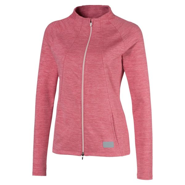 Puma Cloudspun Warm Up Jacke Damen rosa