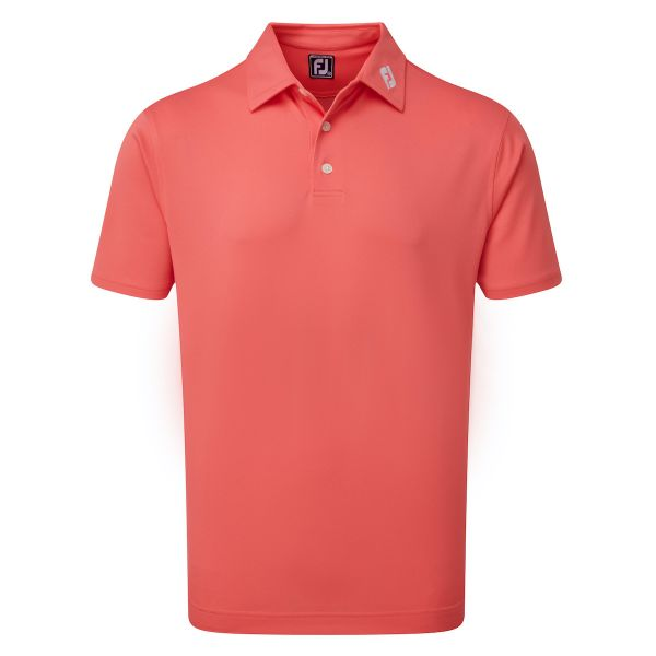 Footjoy Stretch Pique Solid Polo Herren coral