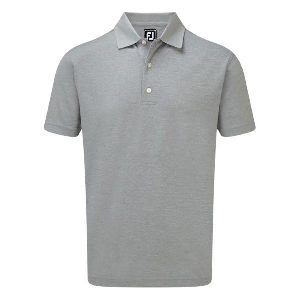 Footjoy Stretch Pique Solid Rib Knit Collar Polo Herren grau