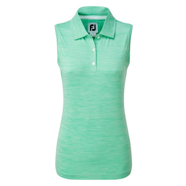 Footjoy Lisle Sleeveless Polo Damen grün
