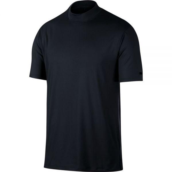 Nike TW Dry VAPOR Mock Polo Herren schwarz