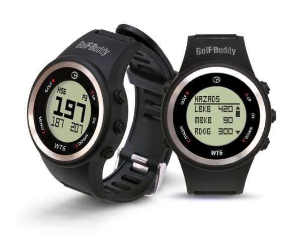 GolfBuddy WT6 GPS-Uhr schwarz