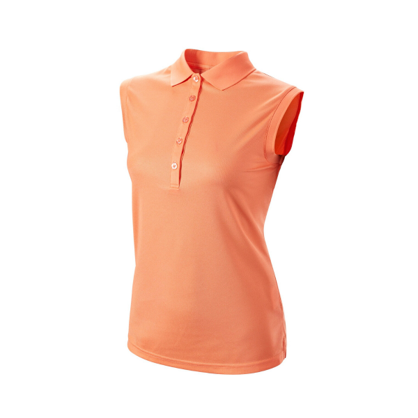 Wilson Sleveless Polo Damen orange