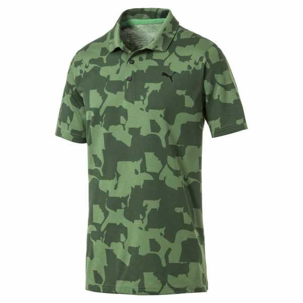 Puma Union Camo Polo Herren camoflage/grün