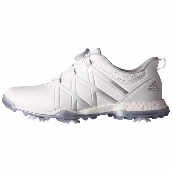 adidas Damen Adipower Boost Golfschuhe, Weiß (White/White/Matte Silver), 41 1/3 EU