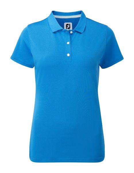 Footjoy Stretch Pique Solid Polo Damen cobaltblau