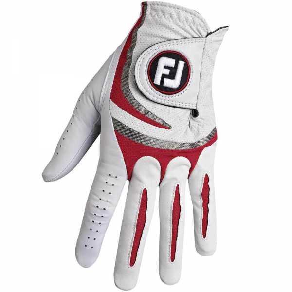 Footjoy SciFlex Tour Damenhandschuh weiß/rot
