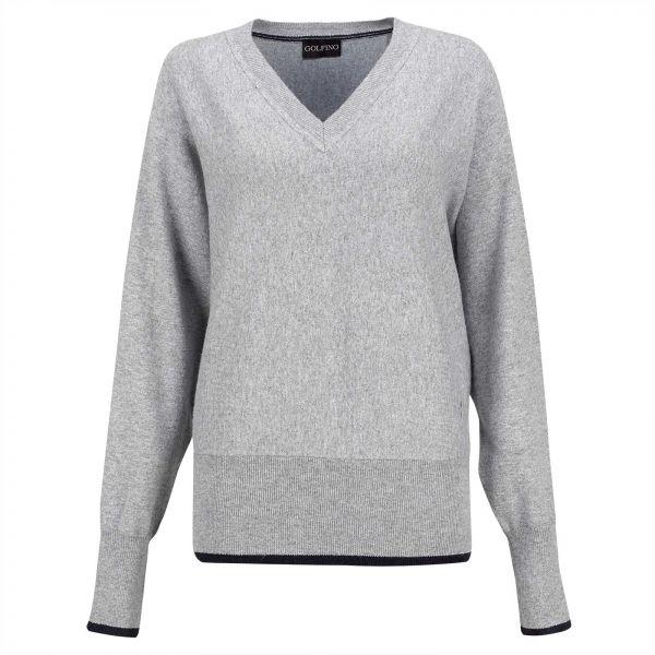 Golfino Silver Touch Pullover Damen grau/blau