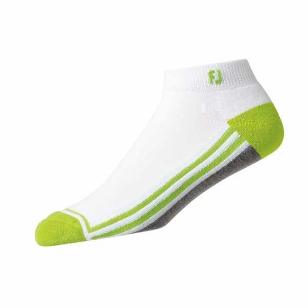 Footjoy ProDry Sport Fashion Socken Herren weiß/grau/lime