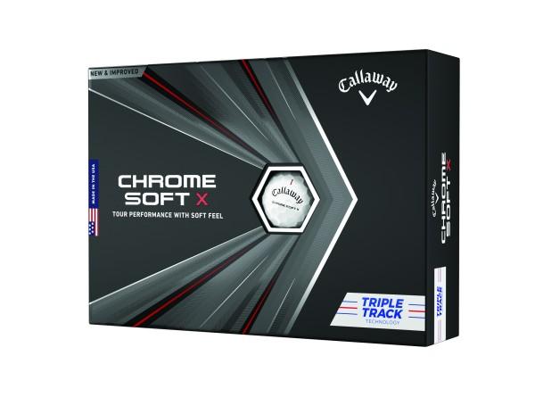 Callaway Chrome Soft X TripleTrack 2020 12Stk. Bälle