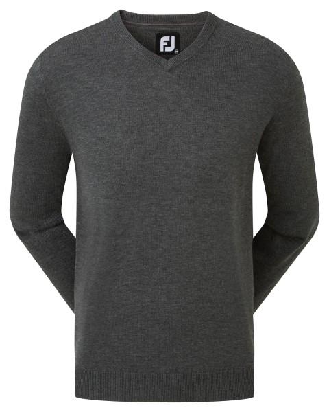 Footjoy Wool Blend V-Neck Pullover Herren dunkelgrau