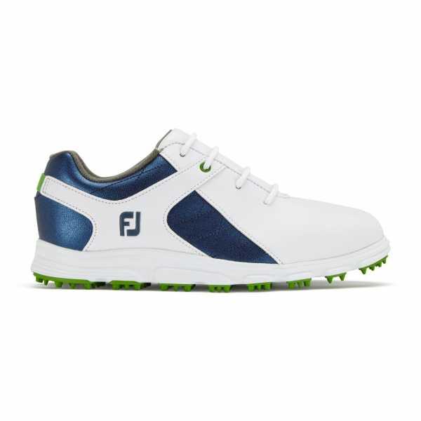 Footjoy Junior Pro/SL Schuh Jungen weiß/blau