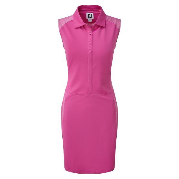 Footjoy Cap Sleeve Pique Kleid Damen rosa