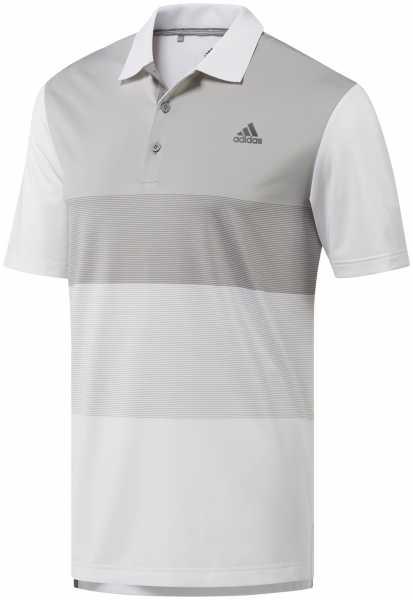 Adidas Ultimate Color Block Polo Herren weiß/grau