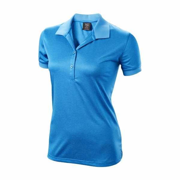 Wilson Stripe Polo Damen blau