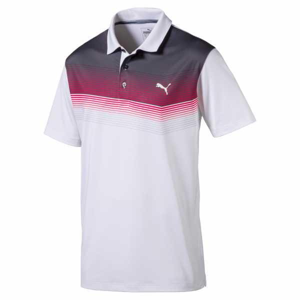 Puma Roadmap Polo Herren weiß/pink