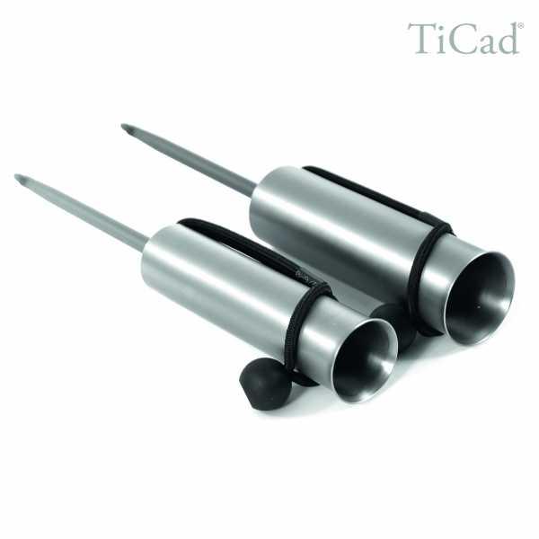 TiCad Schirmhalter aus Titan und Aluminium XXL (43 mm Durchmesser, 390 mm lang)