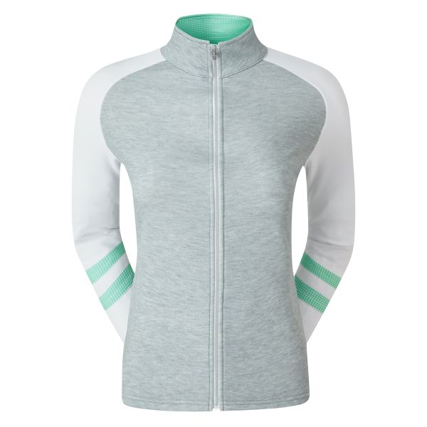Footjoy Full-Zip Raglan Colour Block Pullover Damen hellgrau