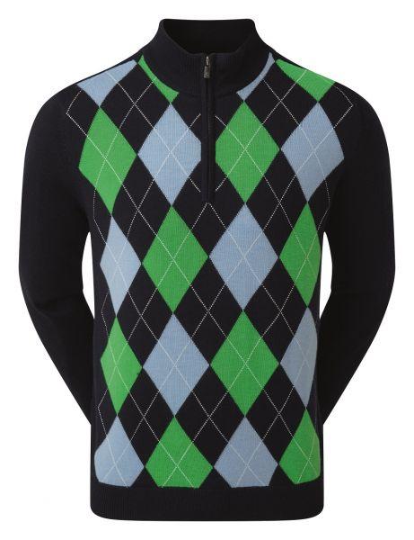 Footjoy Woolblind Lined 1/2-Zip Pullover Herren navy/grün