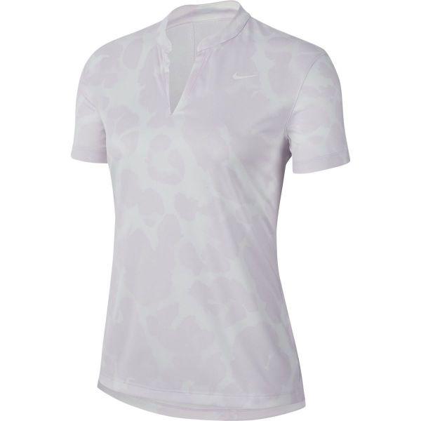 Nike Dri-Fit Victory Printed Polo Damen lila/weiß