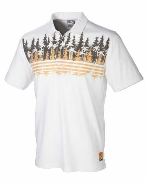 Puma Pines Polo Herren weiß/braun