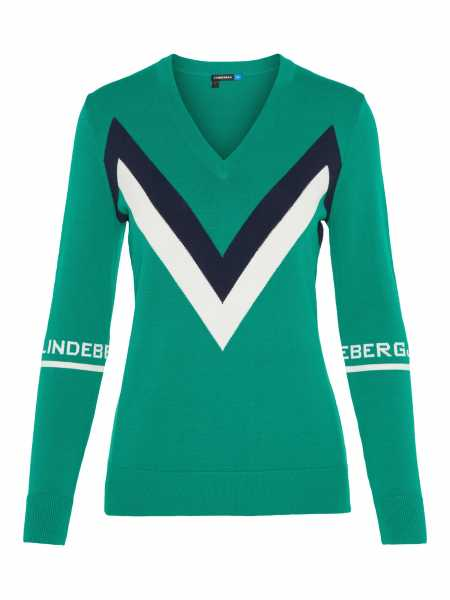 72ff1e63a6 J. Lindeberg Cleine Viscose Nylone Pullover Damen grün jetzt günstig ...