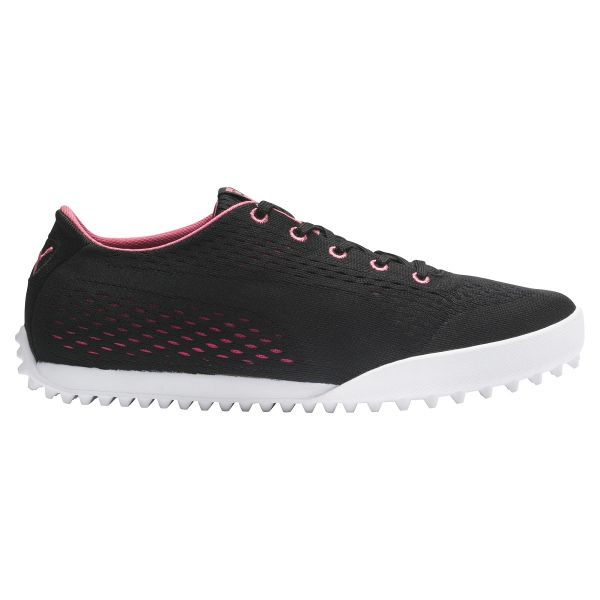 Puma Monolite Cat EM Golfschuh Damen schwarz/rosa