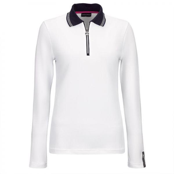 Golfino Revolution UV Pique Zip Polo Damen weiß