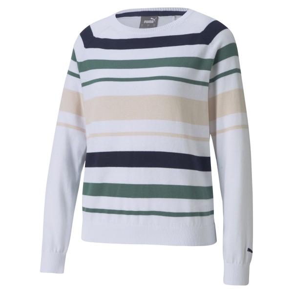 Puma Ribbon Sweater Damen weiß/pink