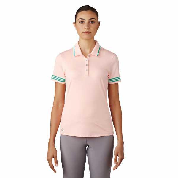 Adidas 3-Stripes Tipped Polo Damen rosa