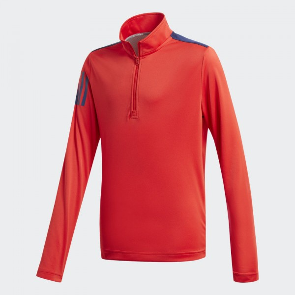 adidas 3stripes Halfzip Layer Jungen rot